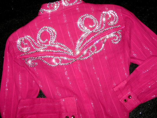 YOUTH XL! HOTTEST PINK! SILVER THREAD!