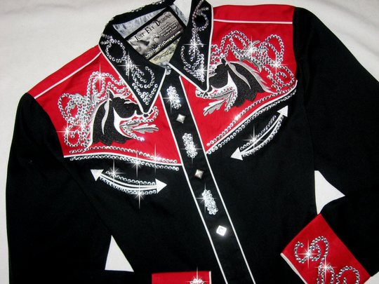 ROCKIN RETRO ROPER!!  Rodeo Ready!! SIZE LARGE!