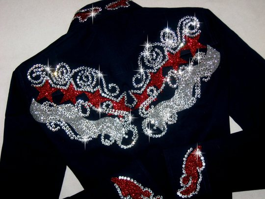 PATRIOTIC ELEGANCE!  SPARKLE GALORE! Navy, Red, Silver!