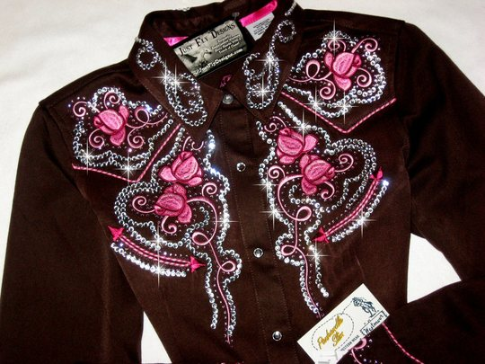 PANHANDLE SLIM ! New with Tags! Chocolate and Pink! Crystals Galore!