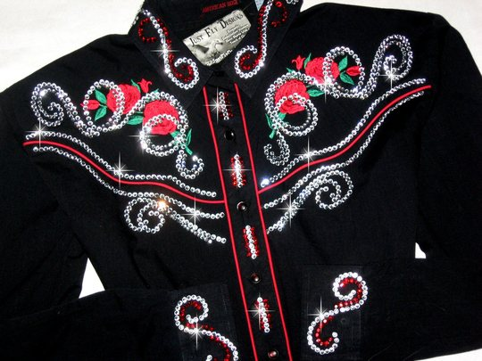 VINTAGE! Ely Country Charmer! XL! BLING!