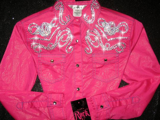 HOT PINK SHIMMER! YOUTH SIZE  ! BLING GALORE!