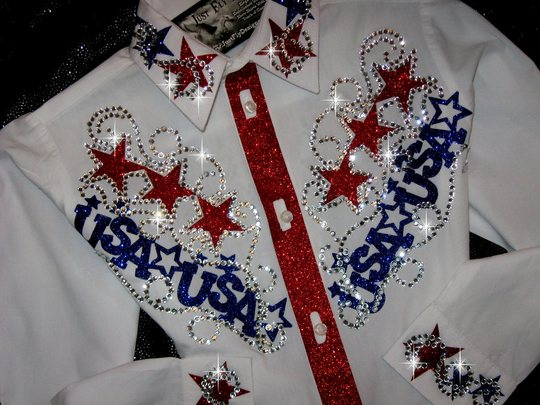Youth! USA YOKES! PATRIOTIC PRIDE SPARKLE!