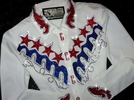 PATRIOTIC STARS & STRIPES! BLING GALORE!