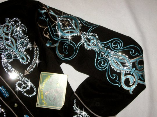 VINTAGE! CHOCOLATE  & TEAL/TURQUOISE DELIGHT! MEGABLING!