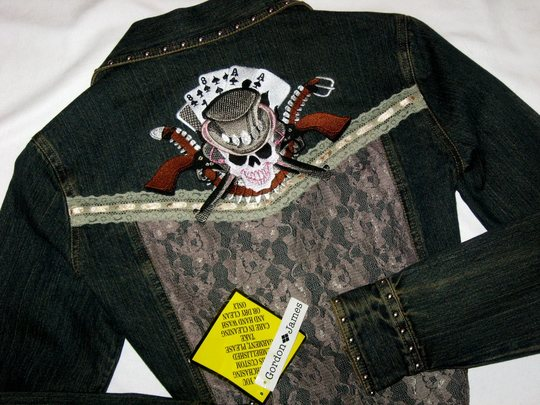 ACES & EIGHTS!  DENIM & LACE! EMBROIDERED!