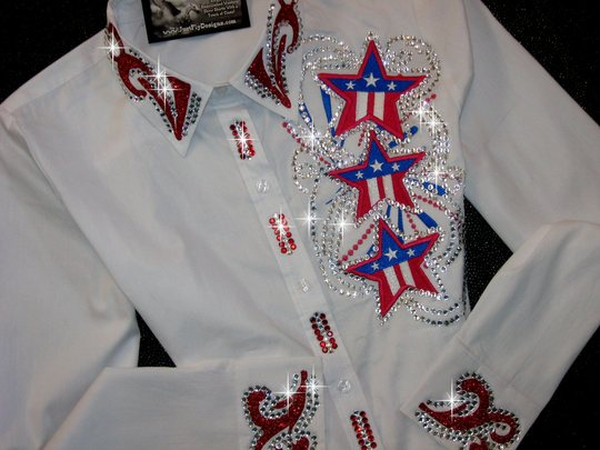PATRIOTIC STARS! QUEEN SASH DESIGN! ADULT SMALL