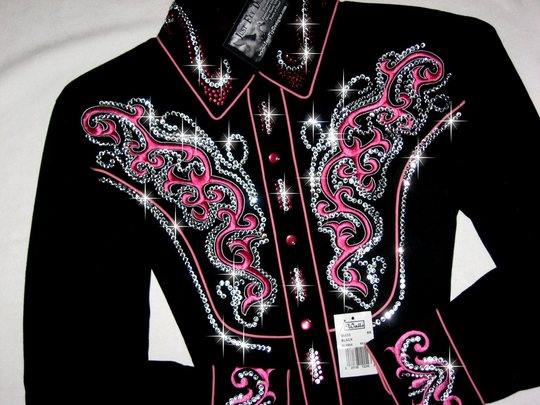 4 Black Beauty!  CUSTOM EMBROIDERY! TONS OF CRYSTALS!