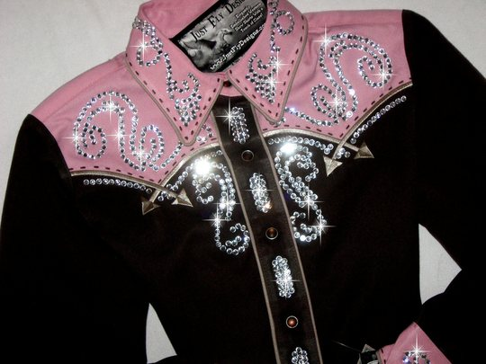 * YOUTH SIZE 8-  MEDIUM! CHOCOLATE & PINK ROPER!