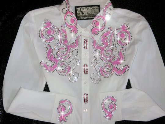 TETWP!  BREAST CANCER RIBBON!  PINK SPARKLE