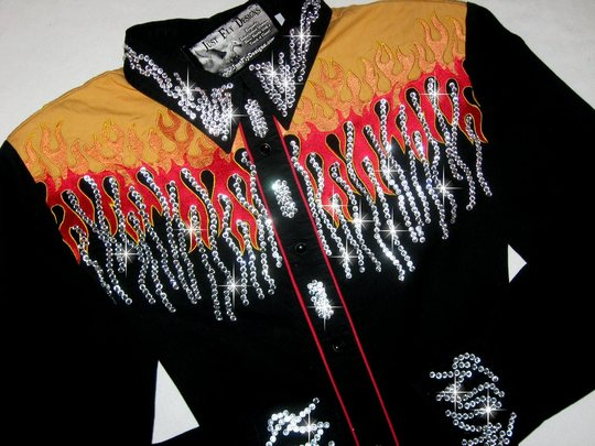 VINTAGE ROPER! HOT! HOT! HOT! XL! FLAMES!