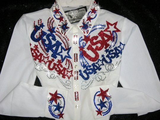 USA  PRIDE!!!!  MAX BLING! CRYSTALS GALORE!