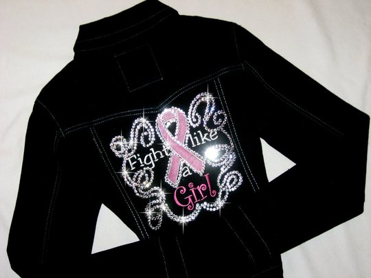 TETWP FIGHT LIKE A GIRL DENIM JACKET