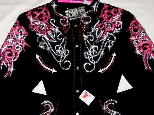 ONE OF A KIND! PANHANDLE SLIM BLACK & PINK! BLING GALORE!