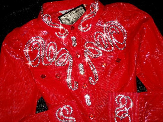 RAVISHING RED ROPER! ! SHIMMER SILVER THREAD!