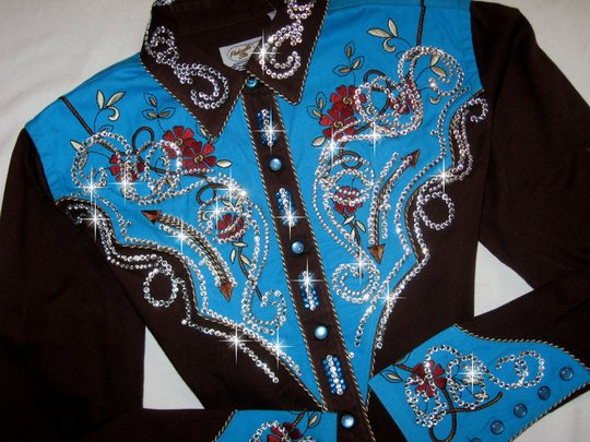 PANHANDLE SLIM! ViNTAGE CHOCOLATE AND TURQUOISE!