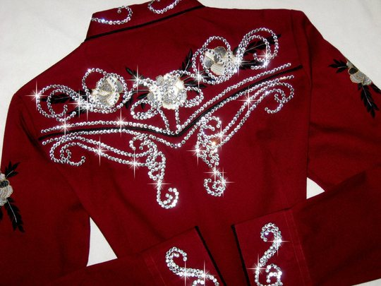 BURGUNDY BEAUTY ! VINTAGE ROPER! BLINGED TO ThE MAX!