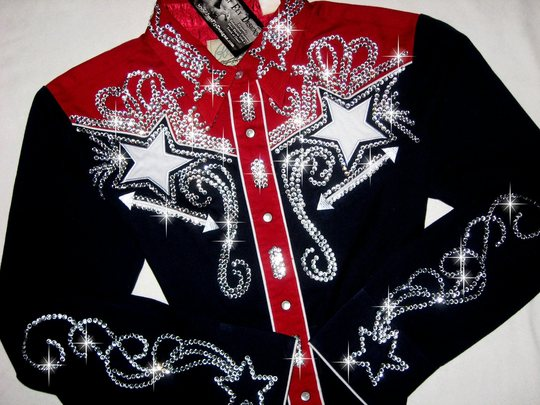Patriotic Navy & Red FABULOUS! Rodeo Queen!