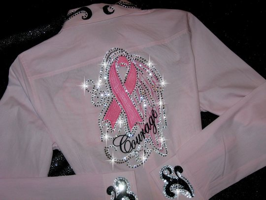 BREAST CANCER AWARENESS!! COURAGE in PINK! BLING GALORE!