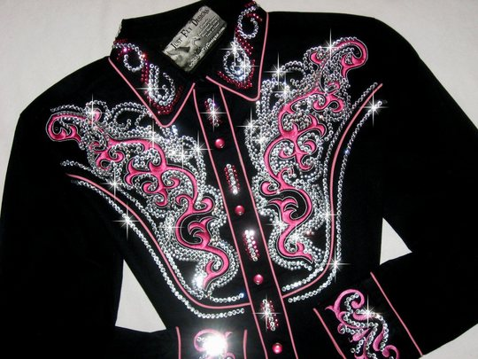 Black Beauty! Pink Scrolls! MEGA BLING!