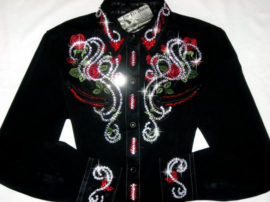 UNIQUELY YOURS!  RED ROSES!  ROPER CLASSIC ! CRYSTALS GALORE!