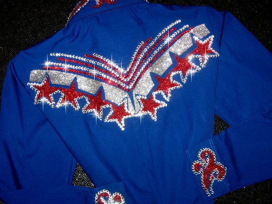 PATRIOTIC YOUTH! ROYAL BLUE! SPARKLE GALORE!
