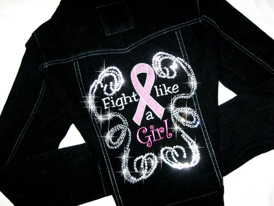4 FIGHT LIKE A GIRL DENIM JACKET