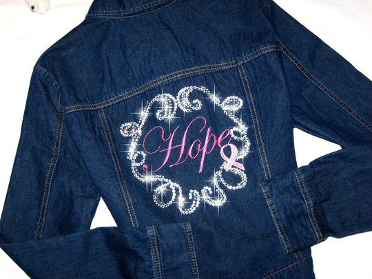 4 DENIM JACKET  HOPE! Breast Cancer Awareness