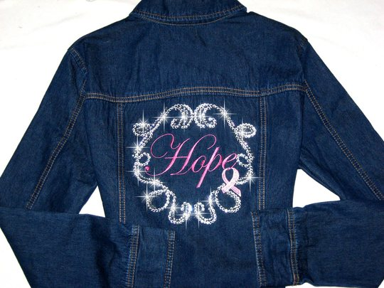 DENIM JACKET  HOPE! Breast Cancer Awareness