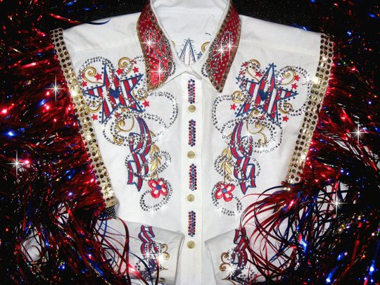 Americana Partiotic Pride Custom Embroidered Western Rodeo