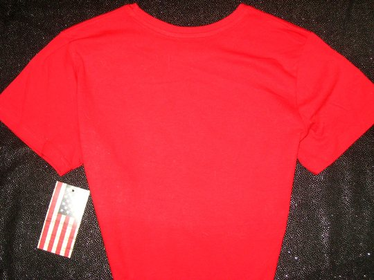 Patriotic red blinged tee shirt