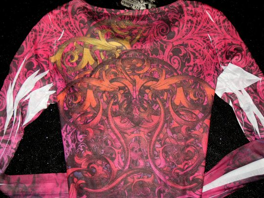 Vocal Sublimation Long Sleeve Tee Shirt! AB CRYSTALS!!