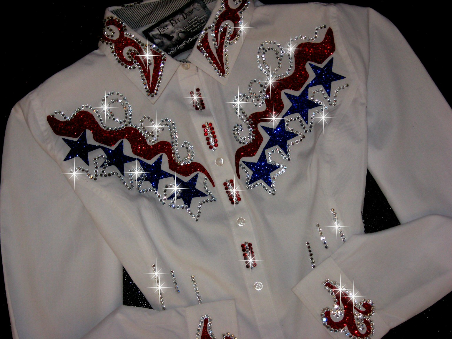 Patriotic Stars ! Custom Designed! BLING!