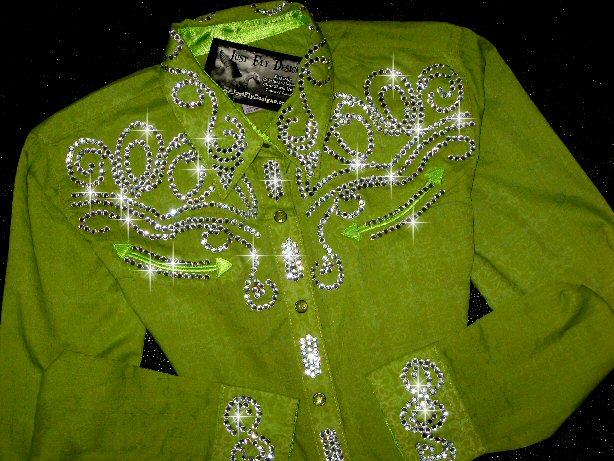2020 Luscious Little Lime  MEGA BLING! Youth Wrangler XL!!!