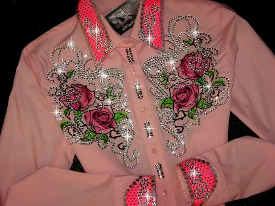 4 PINK FANTASY ROSES! AWESOME BLING!