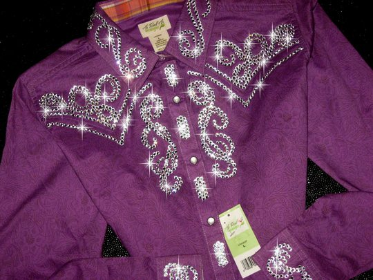 4 PURPLE with INTRICATE CRYSTAL BLING!