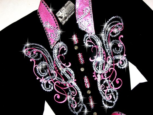 SALE PENDING! DELICATE  PINK SCROLLS! BLING GALORE!