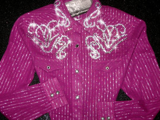 YOUTH ! PURPLE WITH SILVER SHIMMER! Size 10