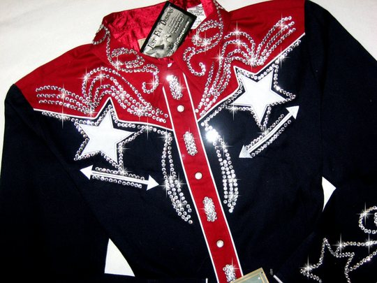 PATRIOTIC STAR! ROPER CLASSIC! BLING GALORE!