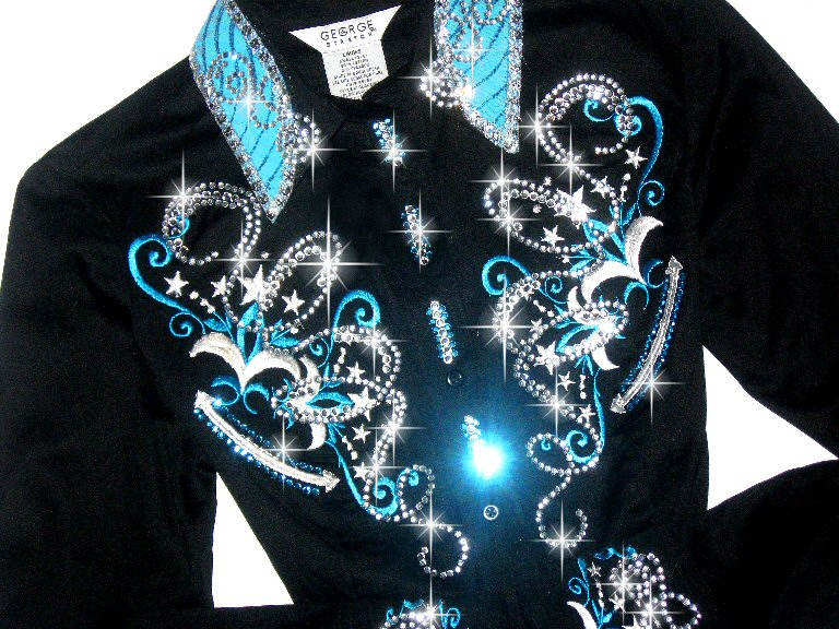 WISH UPON A STAR Turquoise & White Scrolls & Stars