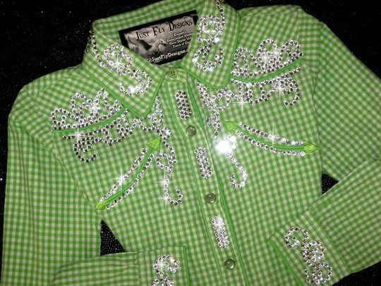 LITTLE LIME BLING!  Sweet Gingham! DEVASTATINGLY DARLING!