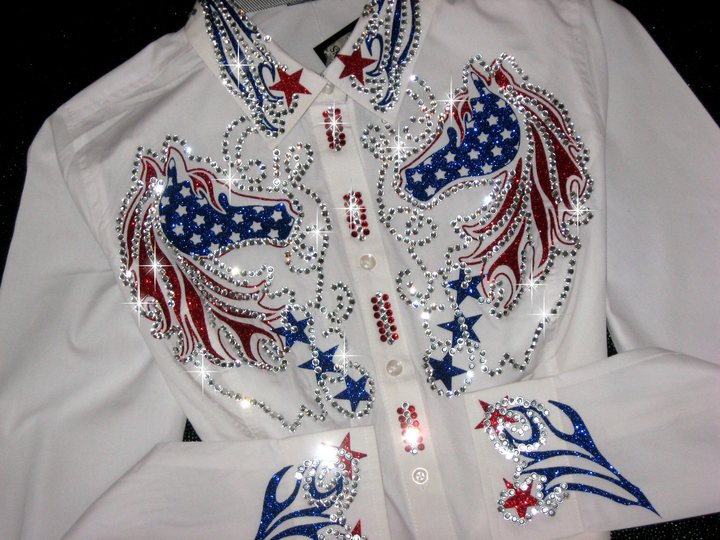 Patriotic Horses and Stars! Sparkle and Shine!  2018