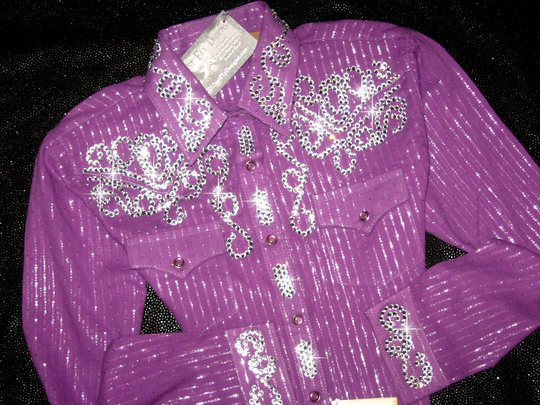 YOUTH! PURPLE & SILVER SPARKLE! !  BLING GALORE!
