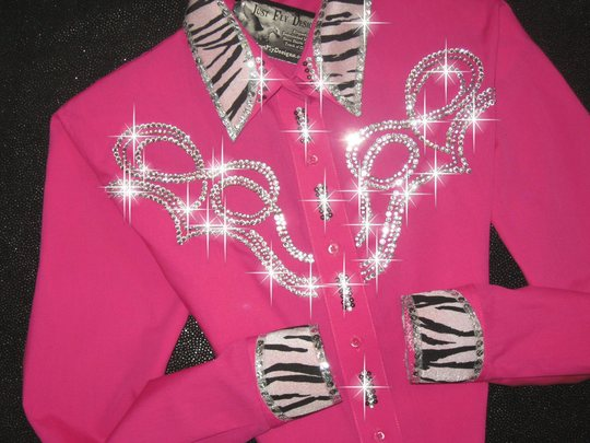 TETWP WILD! HOT PINK  & ZEBRA with BLING!