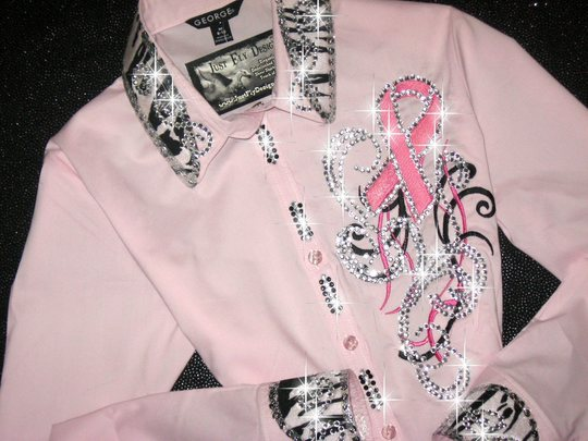 WILD FOR A CURE! PINK RIBBON! ZEBRA TRIM!